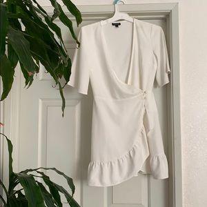 Topshop white mini dress